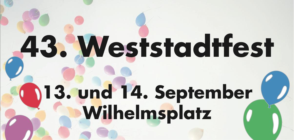 Banner 43. Weststadtfest