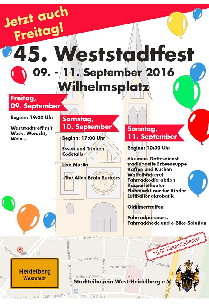 Plakat Weststadtfest 2016