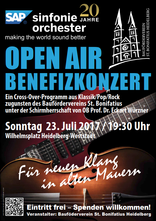 Plakat Open Air Benefizkonzert
