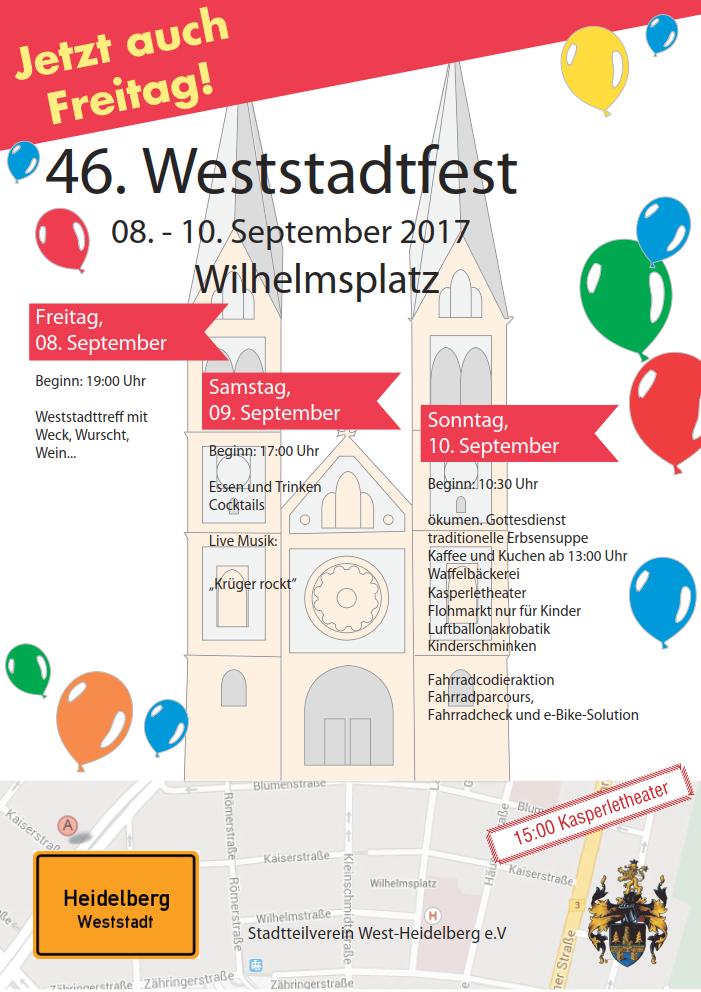 Plakat Weststadtfest 2017