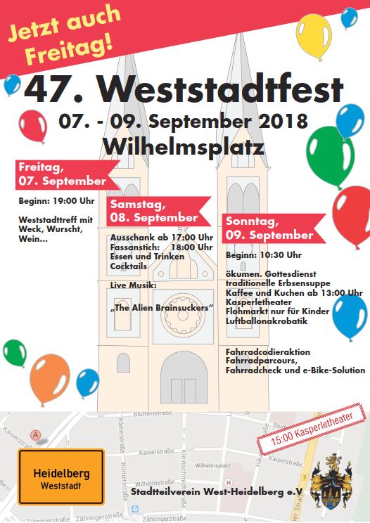 Plakat vom Weststadtfest 2018